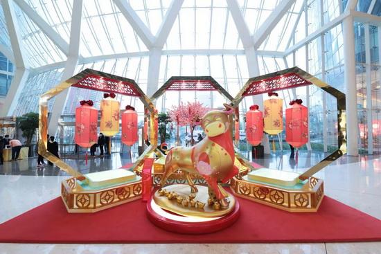 上海ifc商场 鸿运金牛迎新春